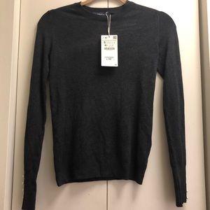 ZARA Knit Pearl Sweater size S